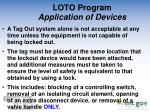 loto program application of devices1