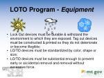 loto program equipment1