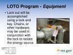 loto program equipment2