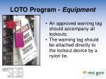 loto program equipment5
