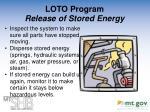 loto program release of stored energy