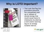 why is loto important