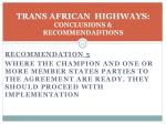 trans african highways conclusions recommendadtions2