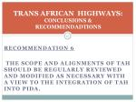 trans african highways conclusions recommendadtions3