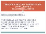 trans african highways conclusions recommendadtions4