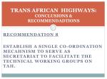 trans african highways conclusions recommendadtions5