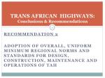 trans african highways conclusions recommendations1
