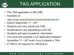 tag application
