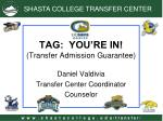 tag you re in transfer admission guarantee