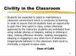 civility in the classroom