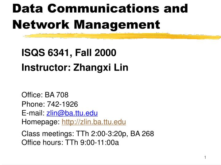 data communications and network management n.