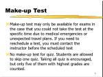 make up test