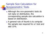 sample size calculation for nonparametric tests