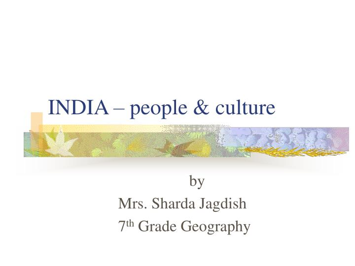 india people culture n.