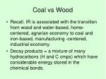 coal vs wood