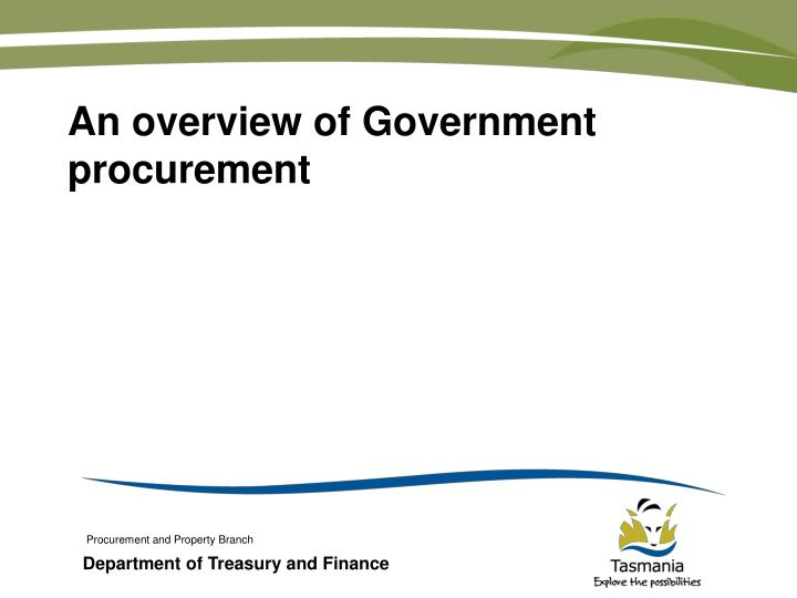 an overview of government procurement n.