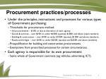 procurement practices processes