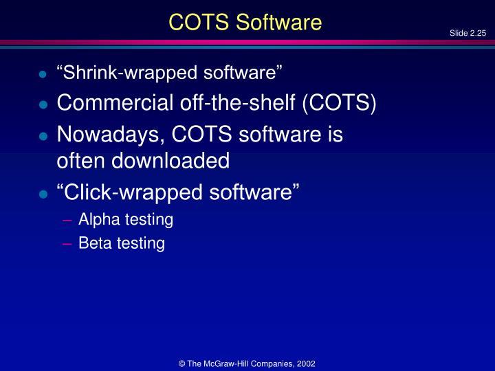 COTS Software