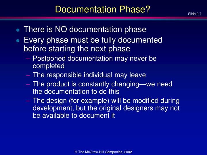 Documentation Phase?