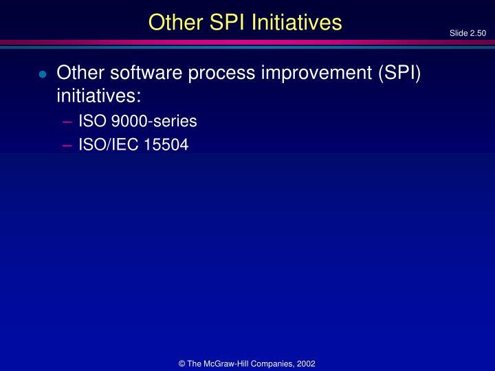 Other SPI Initiatives