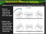 geometric effect on vehicles