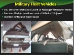 military fleet vehicles