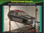 testing a rop retrofit rollover testing of final design configuration