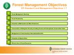 forest management objectives sfi standard land management objectives 1 7