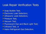 leak repair verification tests1