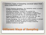 different ways of sampling