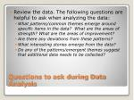 questions to ask during data analysis