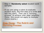 step three the rubric and norming process