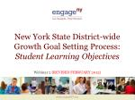 new york state district wide growth goal setting process student learning objectives