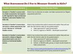 what assessment do i use to measure growth in slos1