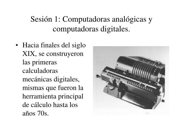 Computadora digital y computadora anal gica