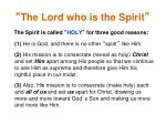 the lord who is the spirit10