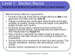 level 1 section basics required by all sections to maintain a status of good standing