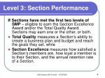 level 3 section performance