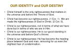 our identity and our destiny4