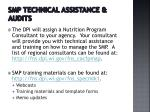 smp technical assistance audits