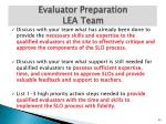 evaluator preparation lea team1