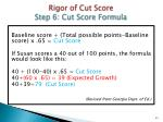 rigor of cut score step 6 cut score f ormula