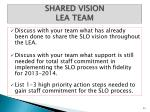 shared vision lea team1