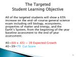 the targeted student learning objective5