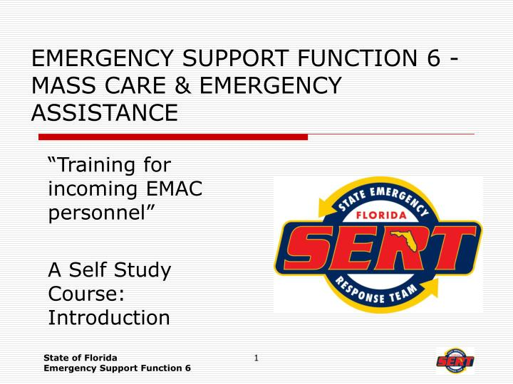 emergency support function 6 mass care emergency assistance n.