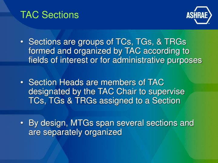 TAC Sections