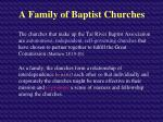 a family of baptist churches