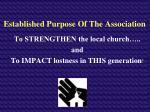 established purpose of the association