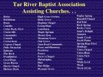 tar river baptist association assisting churches