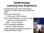 epidemiology learning from experience